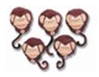 5 Little Monkeys / Lyrics included